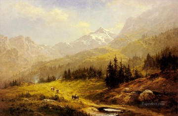The Wengen Alps Morning In Switzerland Benjamin Williams Leader Oil Paintings