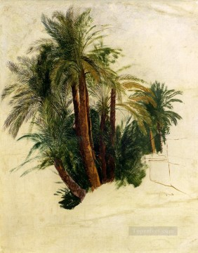 Tree Painting - Study Of Palm Trees Edward Lear