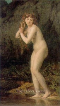 bath girl oil painting Painting - A bathing nude nude Jules Joseph Lefebvre