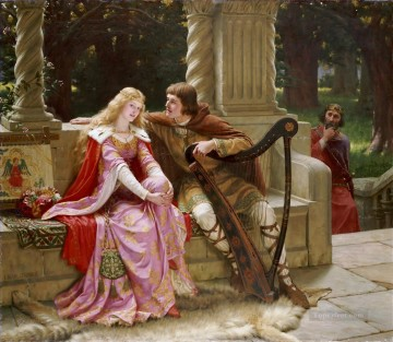 Tristan and Isolde historical Regency Edmund Leighton Oil Paintings
