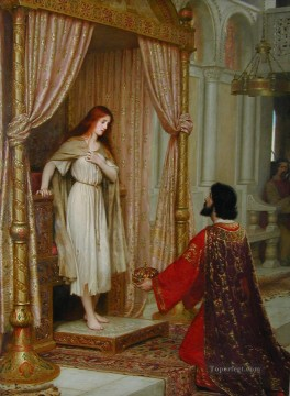 King Copetua and the Beggar Maid historical Regency Edmund Leighton Oil Paintings