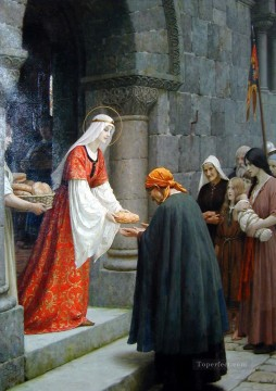 Charity of St Elizabeth of Hungary historical Regency Edmund Leighton Oil Paintings