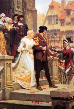 Call to Arms historical Regency Edmund Leighton Oil Paintings