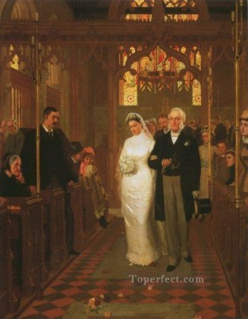Till Death Us Do Part historical Regency Edmund Leighton Oil Paintings