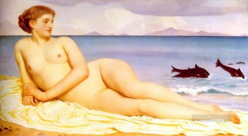 Frederic Art Painting - Actaea the Nymph of the Shore 1868 Academicism Frederic Leighton
