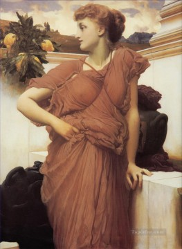 Frederic Art Painting - At the Fountain Academicism Frederic Leighton