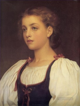 Biondina Academicism Frederic Leighton Oil Paintings
