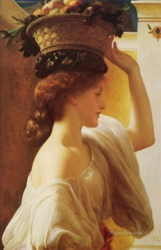 Fruit Painting - Eucharis A Girl with a Basket of Fruit Academicism Frederic Leighton