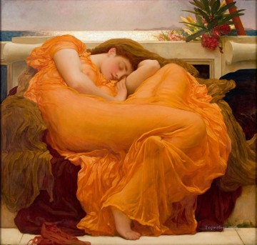Frederic Art Painting - Flaming June Academicism Frederic Leighton