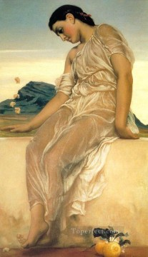 Lord Frederic Leighton Painting - Girl Academicism Frederic Leighton