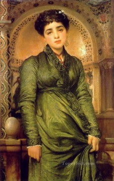 Frederic Art Painting - Girl in Green Academicism Frederic Leighton
