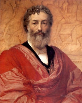 Lord Frederic Leighton Painting - Self portrait Academicism Frederic Leighton