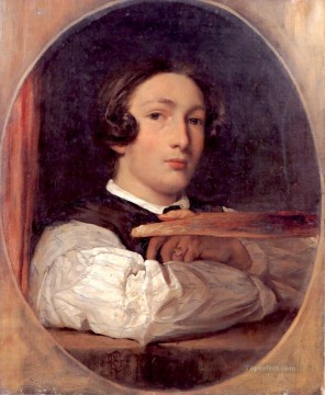 portrait - Self portrait as a boy Academicism Frederic Leighton
