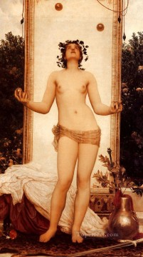 antique Canvas - The Antique Juggling Girl Academicism Frederic Leighton