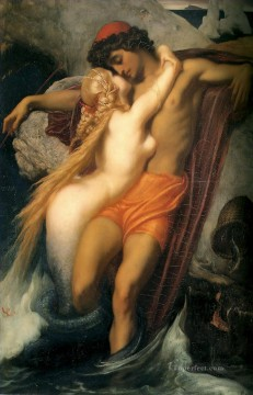 Lord Frederic Leighton Painting - The Fisherman and the Syren 1856 Academicism Frederic Leighton