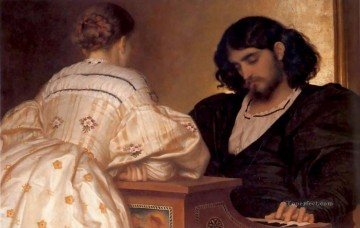 Hour Painting - The Golden Hours 1864 Academicism Frederic Leighton