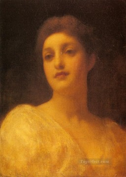 The Head Of A Girl Academicism Frederic Leighton Oil Paintings