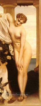 Bath Painting - Venus Disrobing for the Bath 1866 Academicism Frederic Leighton