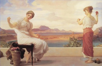 Frederic Art Painting - Winding the Skein Academicism Frederic Leighton