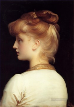 Lord Frederic Leighton Painting - k Girl Academicism Frederic Leighton