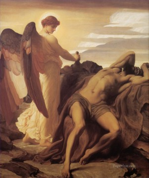 Lord Frederic Leighton Painting - Elijah in the Wilderness Academicism Frederic Leighton