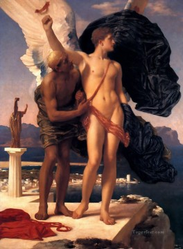 Lord Frederic Leighton Painting - Icarus Academicism Frederic Leighton