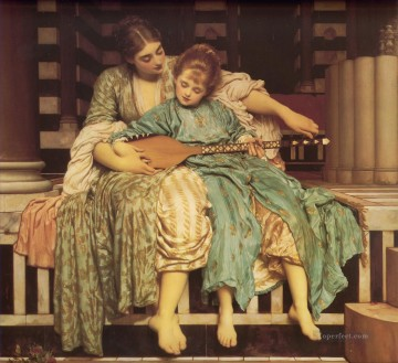 Lord Frederic Leighton Painting - Music Lesson Academicism Frederic Leighton