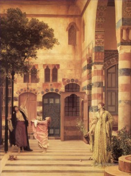 Lord Frederic Leighton Painting - Old Damascus Jews Quarter Academicism Frederic Leighton