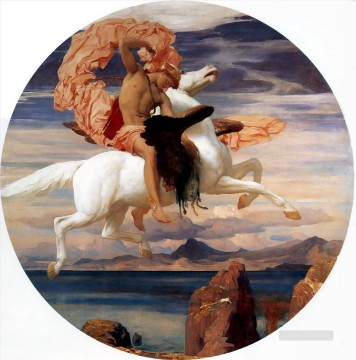 1895 Works - Perseus on Pegasus hastening to the rescue of Andromeda 1895 Academicism Frederic Leighton