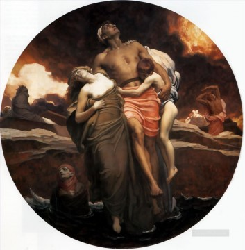 And the sea gave up the dead which were in it 1891 Academicism Frederic Leighton Oil Paintings