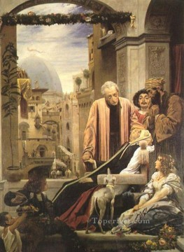 Brunel Canvas - The Death of Brunelleschi 1852 Academicism Frederic Leighton