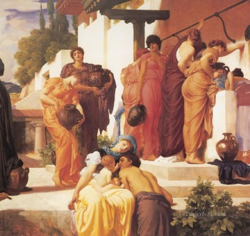 Lord Frederic Leighton Painting - Captive Andromache right Academicism Frederic Leighton