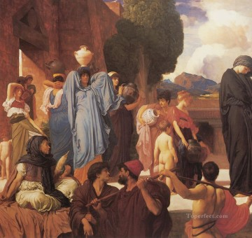left Canvas - Captive Andromache left Academicism Frederic Leighton