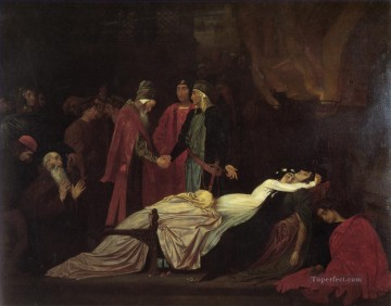 Lord Frederic Leighton Painting - The Reconciliation of the Montagues and the Capulets Academicism Frederic Leighton