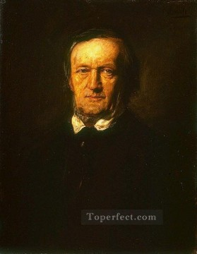 Artworks by 350 Famous Artists Painting - Portrait of Richard Wagner Franz von Lenbach