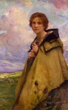 Girl Works - LaBergere Large realistic girl portraits Charles Amable Lenoir