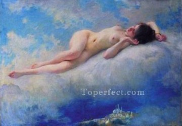 Reve dOrient realistic girl nude Charles Amable Lenoir Oil Paintings