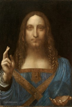 Leonardo da Vinci Salvator Mundi 1500 Oil Paintings