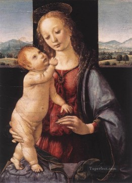 Madonna and Child with a Pomegranate Leonardo da Vinci Oil Paintings