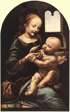 Vinci Oil Painting - Madonna with flower Leonardo da Vinci