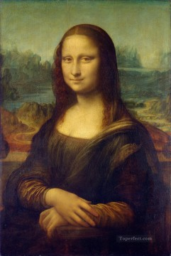 Vinci Oil Painting - Mona Lisa Leonardo da Vinci after restoration