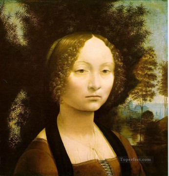 Portrait of Ginevra Benci Leonardo da Vinci Oil Paintings