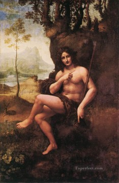 Leonardo da Vinci Painting - St John in the Wilderness Bacchus Leonardo da Vinci