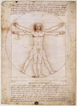 Vitruvian Man Leonardo da Vinci Oil Paintings