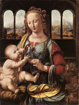 The Madonna of the Carnation Leonardo da Vinci Oil Paintings