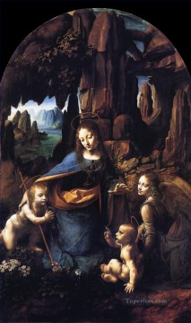 Vinci Oil Painting - Madonna of the Rocks 1491 Leonardo da Vinci