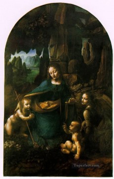 Vinci Oil Painting - Virgin of the Rocks london Leonardo da Vinci
