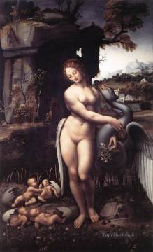 Leda 1508 Leonardo da Vinci Oil Paintings