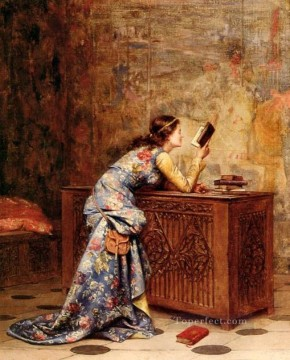 Adolphe Alexandre Lesrel Painting - captivated Academic Adolphe Alexandre Lesrel