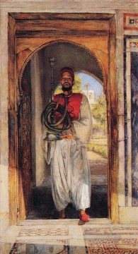 John Frederick Lewis Painting - The Pipe bearer Oriental John Frederick Lewis